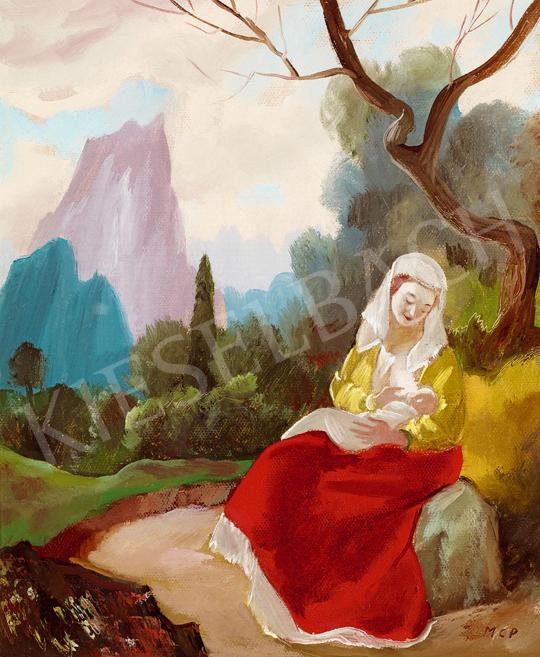 Molnár C. Pál - Madonna romantikus tájban   48. téli aukció aukció / 121 tétel