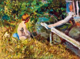 Czóbel Béla - Fiú a patak partján