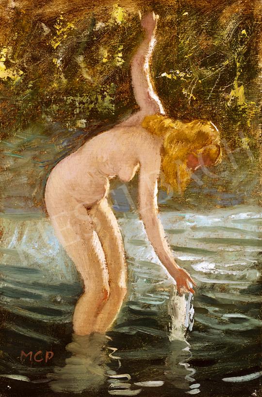 Molnár C. Pál - Fürdőző nő | 48. téli aukció aukció / 155 tétel