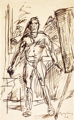 Egry József - Festő a szabadban (Önarckép)