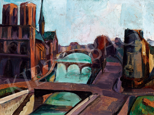 Perlrott Csaba Vilmos - Párizsi Szajna-part | 48. téli aukció aukció / 167 tétel