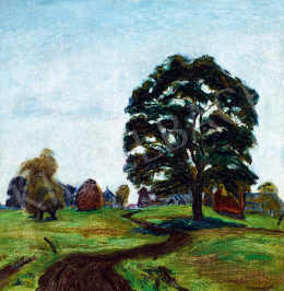 A. Tóth, Sándor - Landscape in France (The Lonely Tree)