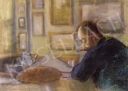 Rippl-Rónai József - Az aszalói állomásfőnök (Rippl-Rónai Ödön) | 8. Aukció aukció / 197 tétel