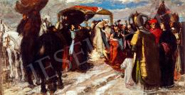 Koszta József - Mátyás és Beatrix találkozása