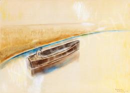 Egry József - Férfi csónakban