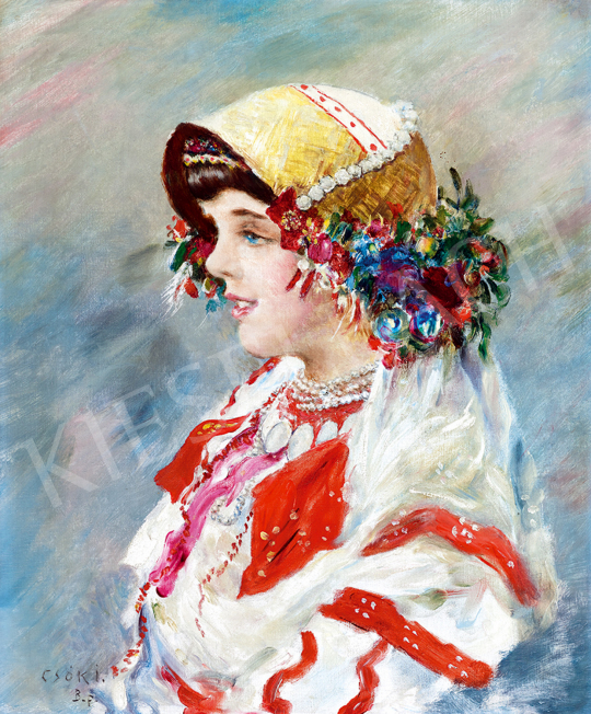 Csók, István - Sokác Girl | Winter Auction auction / 220 Item