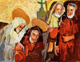 Schéner Mihály - Szentek látogatása (Kettős önarckép)