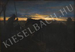 Kotász Károly - Itatás alkonyatkor (1903)