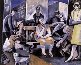 Gábor Jenő - Egy párizsi boulevarde,  éjszaka