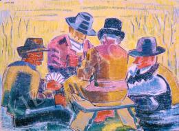 Járitz, Józsa - Peasants playing cards