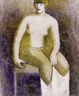 Járitz, Józsa - Woman, sitting on a chair