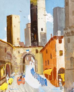 Vadász Endre - Olasz város (San Gimignano)