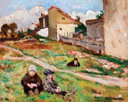 Perlmutter, Izsák - Children on the Hill-Side (1926)