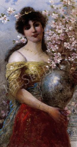 E. Ferroni jelzéssel - Hölgy virágokkal tele vázával
