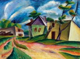 Szigethy István - Kubista utcarészlet (1923)