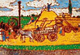Rippl-Rónai József - Nyár a mezőn (Cséplés) (1912 körül)