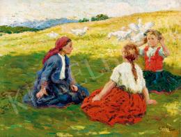Glatz Oszkár - Lányok a réten