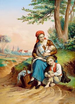 Török Ede - Pihenő család (1860)