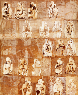 Ország, Lili - Icon Wall III,  Golden-Brown Madonnas (1969)