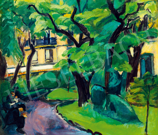 Dénes Valéria - Párizsi parkban (A Cluny-park)   49. tavaszi aukció aukció / 60 tétel