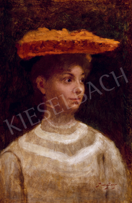 Margitay, Tihamér - Young Lady in a Hat