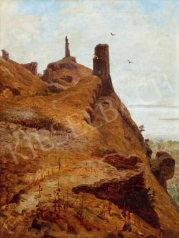 Telepy Károly - Kilátás a Balatonra (Szigliget vára)