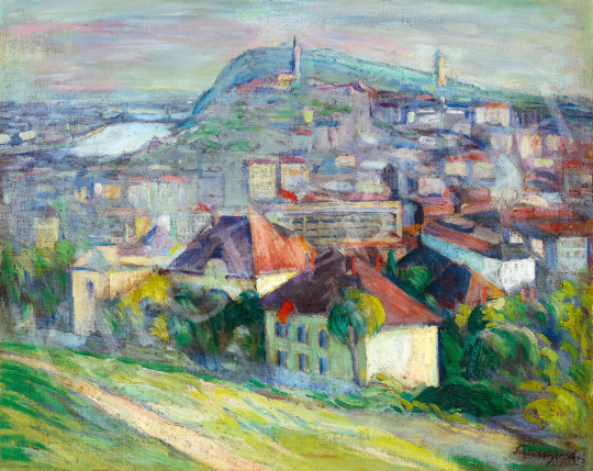 Schönberger, Armand - View From Rose Hill with the Buda Castle in the Background | The 49th auction of the Kieselbach Gallery. auction / 103 Item