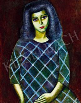 Járitz, Józsa - Girl in Blue Dress