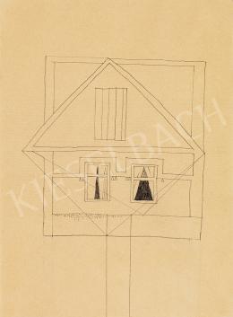 Vajda Lajos - Ház cölöpön, függönyös ablakokkal