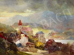 Háry Gyula - Alpesi falu (Weisskirchen, Ausztria)