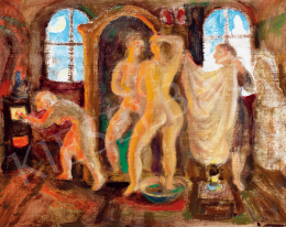 Szabó, Vladimir - Nude in Front of a Mirror (Winter Evening)