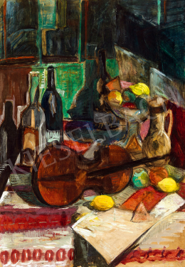 Perlrott Csaba, Vilmos - Studio Still-Life with Violin