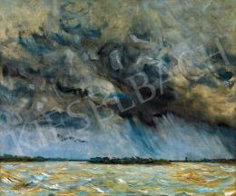 Csók István - Gomolygó felhők a Duna felett Mohácsnálk (Vihar után)