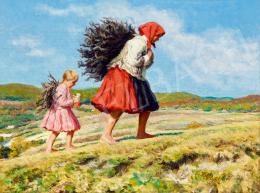 Glatz, Oszkár - Girls Gathering Sticks