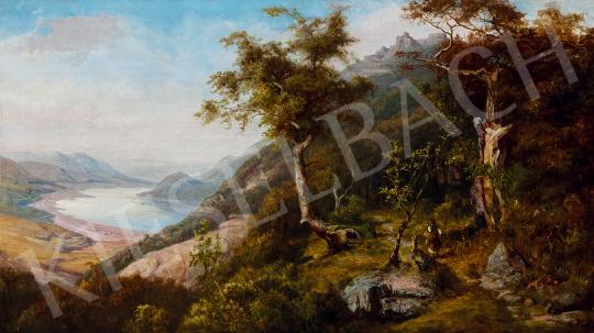 Telepy Károly - A Dunakanyar Visegrádnál (A vándor)   49. tavaszi aukció aukció / 188 tétel