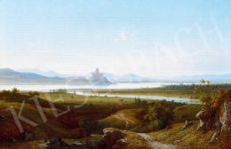 Ligeti Antal - Esztergom és Párkány (Stúrovo) látképe