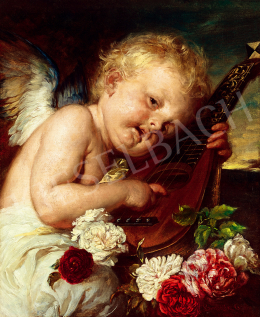 Benczúr, Gyula - Music, Putto with Roses (Scherzo)