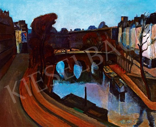 Perlrott Csaba, Vilmos - The Bank of the River Seine | The 49th auction of the Kieselbach Gallery. auction / 233 Item
