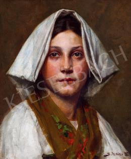 Bihari Sándor - Fejkendős olasz lány