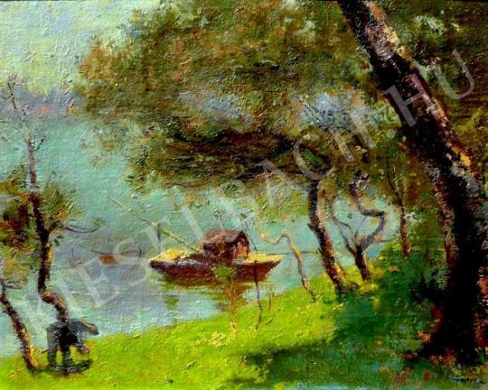 Csupor László - Dunai halász festménye