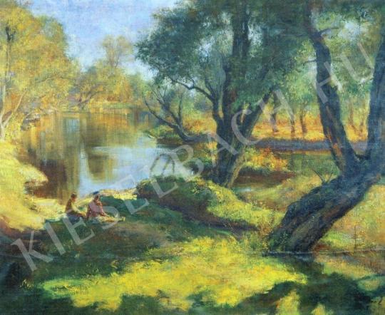 Csupor László - A Sajónál festménye