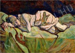 Scheiber Hugó - Alvó lány (1920 körül)