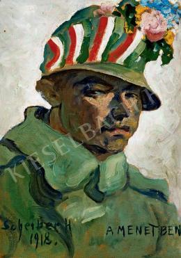 Scheiber Hugó - A menetben (1918)