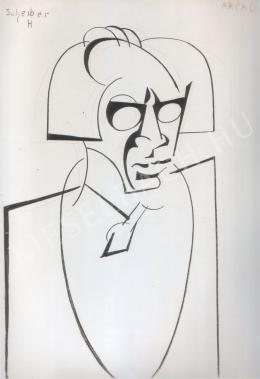 Scheiber Hugó - Herwarth Walden portréja (1925 körül)