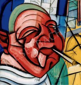 Scheiber Hugó - Szipkás önarckép (1930 körül)