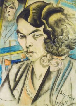 Scheiber Hugó - Marosy Margit (dr. Antal Lajosné) arcképe (1931)