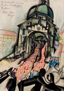 Scheiber Hugó - A pécsi belvárosi templom (1926 körül)