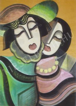 Scheiber Hugó - Csukott szemű nők (1930-as évek)