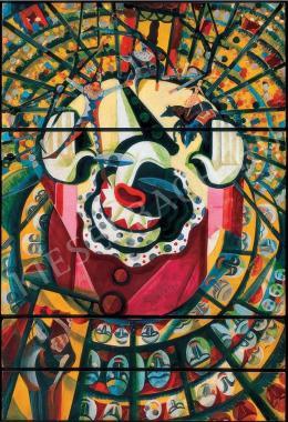 Scheiber Hugó - Cirkusz bohóccal (1930 körül)