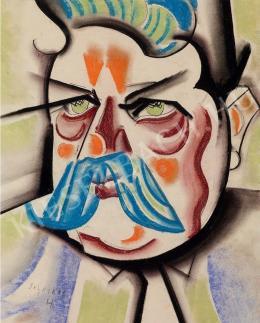 Scheiber Hugó - Bajuszos férfi (A bár portása) (1927 körül)